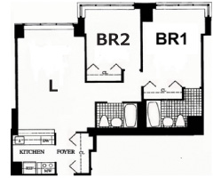 2 bed room